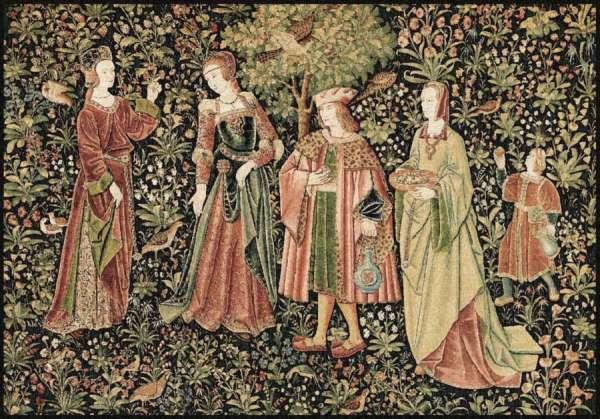 средневековый гобелен променад