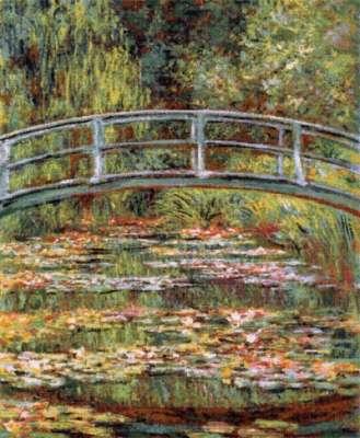 гобелен пруд с лилиями или японский мостик