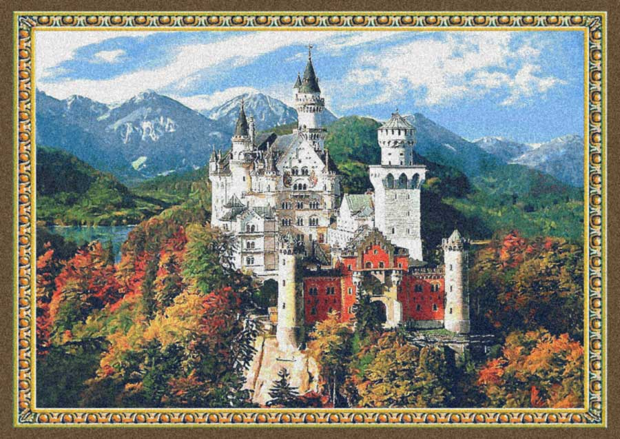 гобелен Замок Нойшванштайн яркий