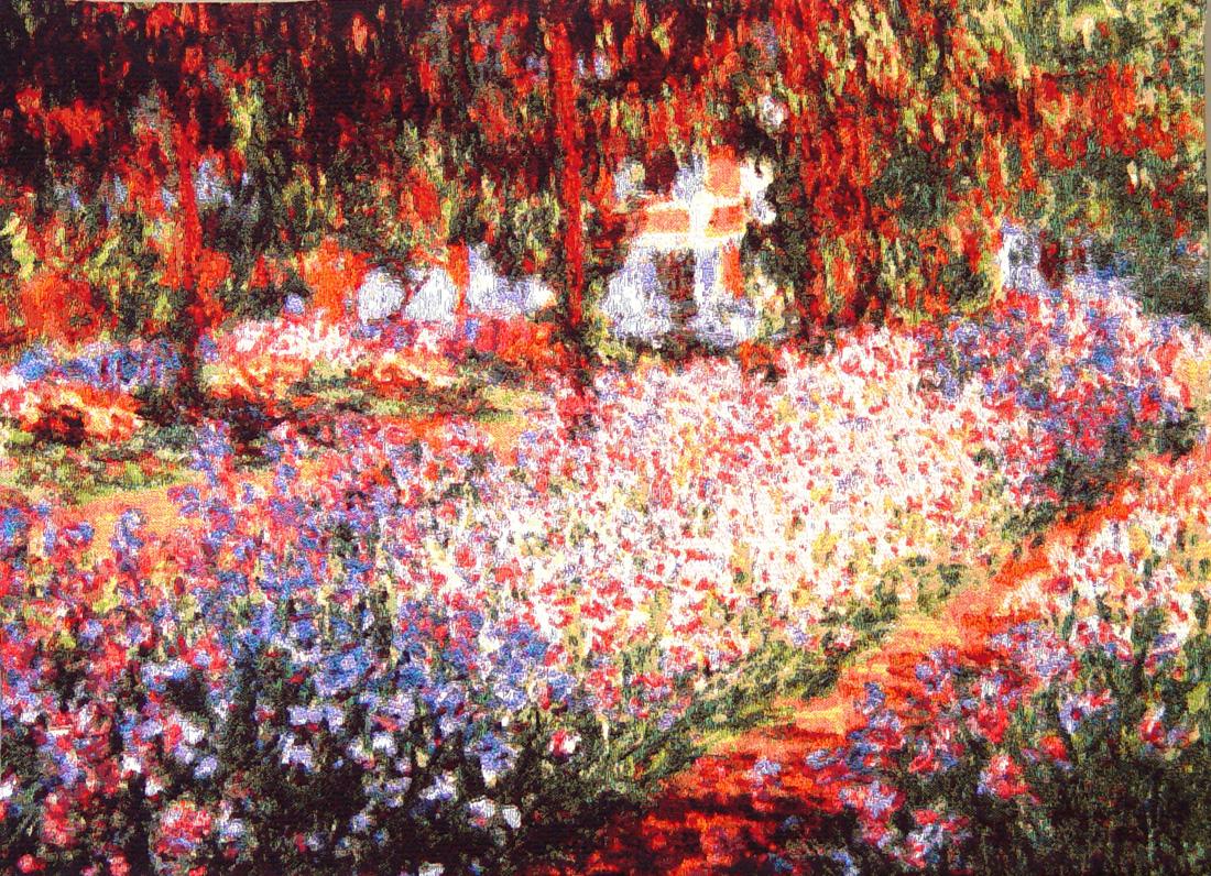 гобелен ирисы в саду Клод Моне