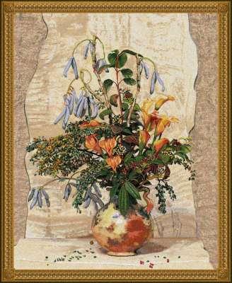 гобелен ваза