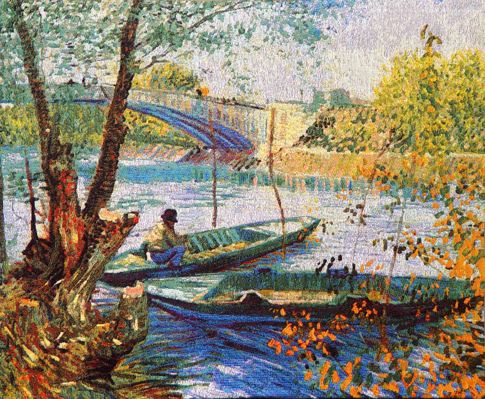 гобелен Рыболов и Лодка в Пон-де-Клиши