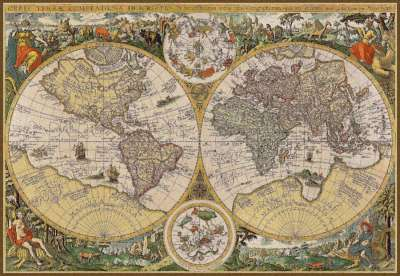 гобелен шар земли карта