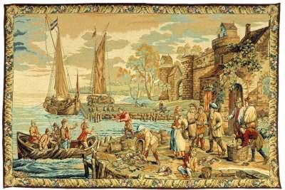 гобелен прибытие в порт французский Pansu