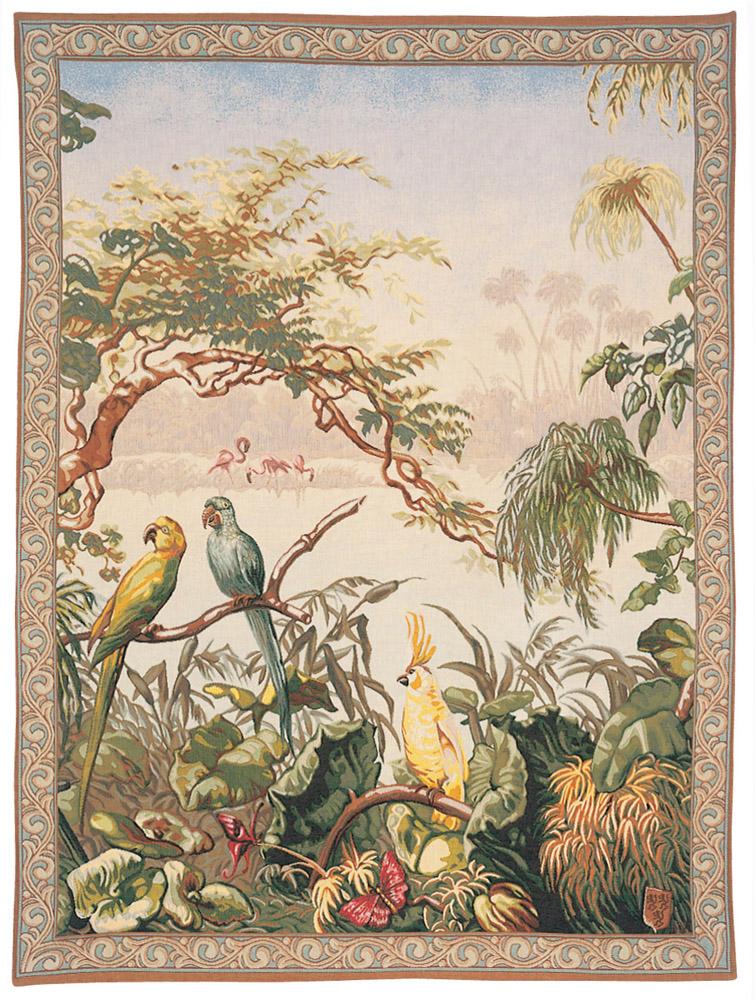 Гобелен экзотические птицы французский гобелен Pansu