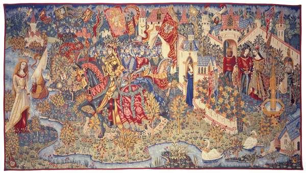 Гобелен легенда короля артура французский Pansu
