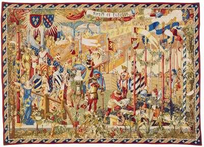 Гобелен Турнир рыцарей или На королевском дворе французский гобелен Pansu