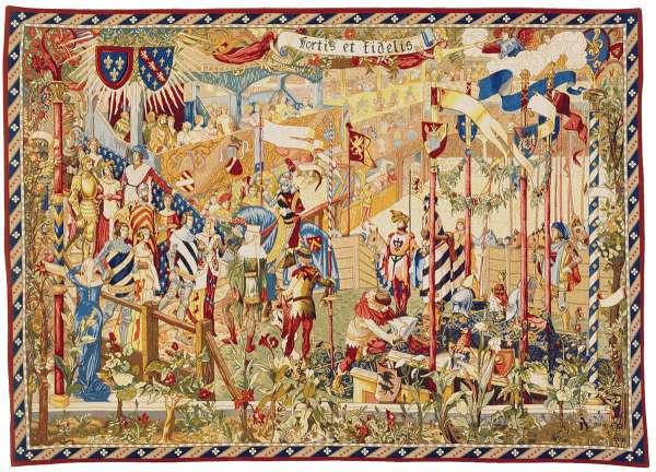 Гобелен Турнир рыцарей или На королевском дворе