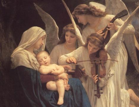 Гобелен Богородица с ангелами заказать создание