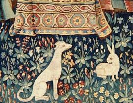 Tenture de la Dame à la Licorne : L'Ouïe