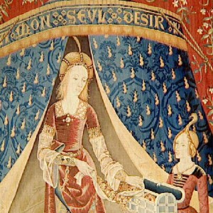 Tenture de la Dame à la Licorne : A mon seul désir, le Sixième sens ou L'Entendement