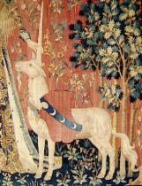 Tenture de la Dame à la Licorne : Le Toucher