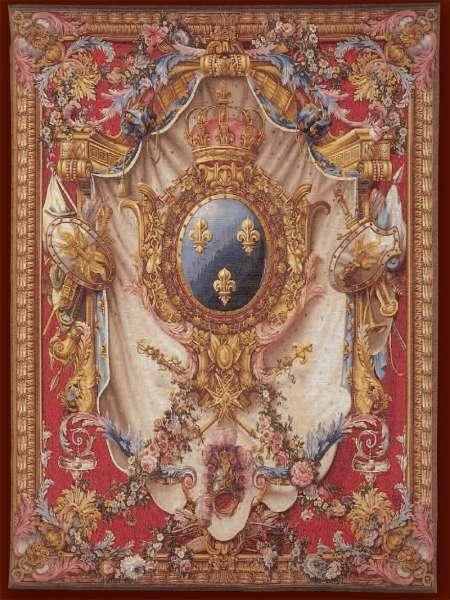 Гобелен Большой Герб красный Франция Art de Lys
