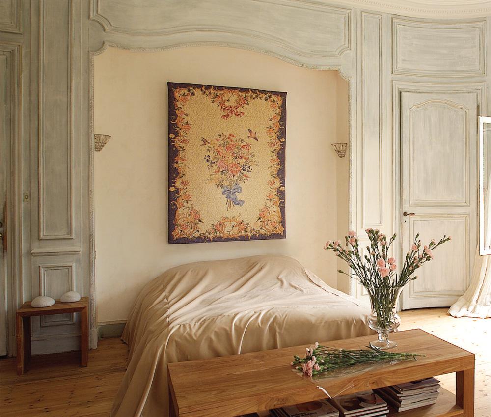 Гобелен в интерьере Шенансо букет Art de Lys