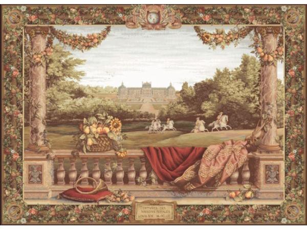Гобелен трасса в замке французский шелковый