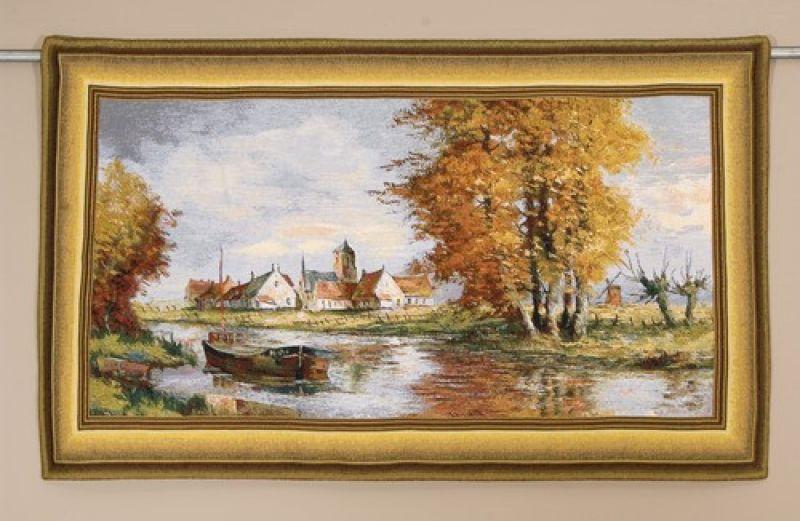 Бельгийски гобелен берег реки