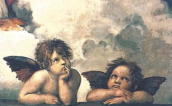 гобелен ангелы рафаэля flanders Бельгия