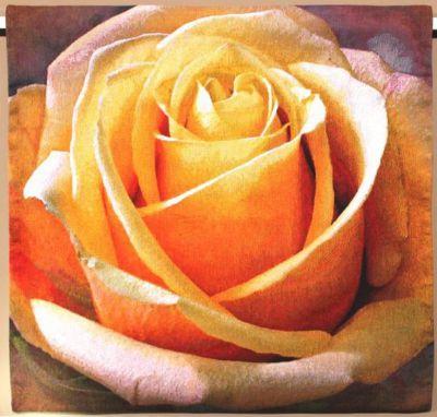 гобелен желтая роза бельгийский гобелен